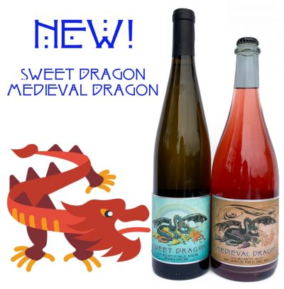 Dragon wine - new riesling and semi-sparkling rosé